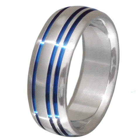 blue titanium promise ring b20 Titanium Wedding and Engagement Rings