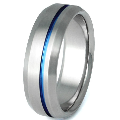 blue titanium ring b25 Titanium Wedding and Engagement Rings