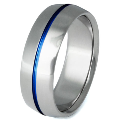 blue titanium promise ring b6 Titanium Wedding and Engagement Rings