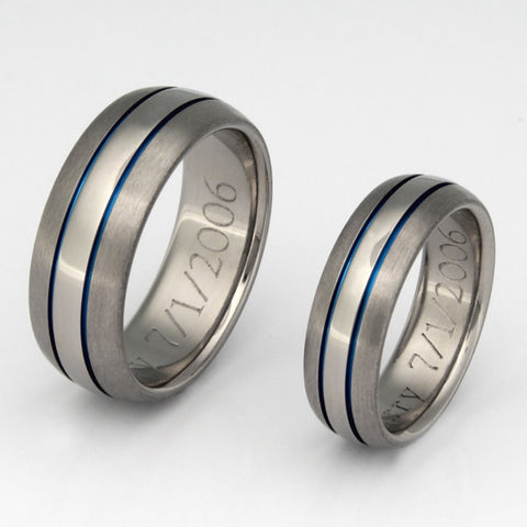 matching titanium wedding band set stb4 Titanium Wedding and Engagement Rings