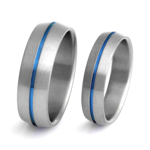 matching titanium wedding band set stb6 Titanium Wedding and Engagement Rings