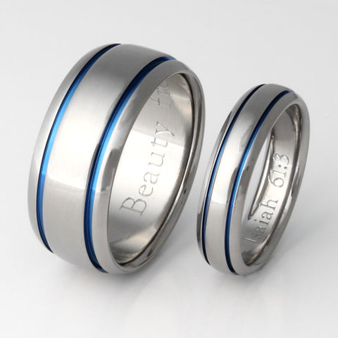 matching titanium wedding band set stb10 Titanium Wedding and Engagement Rings