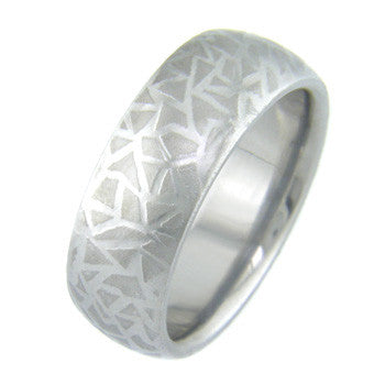 Boone Titanium Mokumanium™ Ring - Cracked Ice