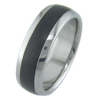african blackwood Titanium Wedding and Engagement Rings