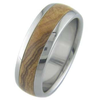 african olivewood Titanium Wedding and Engagement Rings