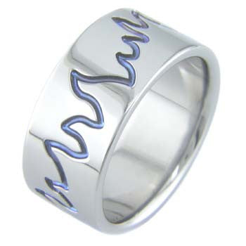 Boone Titanium Ring - Blue Flame