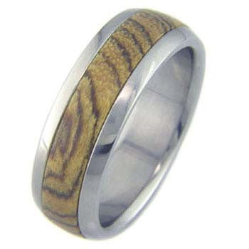bocote Titanium Wedding and Engagement Rings
