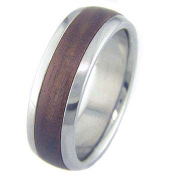 bolivian rosewood Titanium Wedding and Engagement Rings