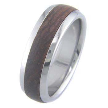 cocobolo Titanium Wedding and Engagement Rings