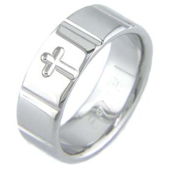 Boone Titanium Ring - Cross