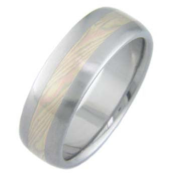 titanium wedding ring mokume trigold Titanium Wedding and Engagement Rings