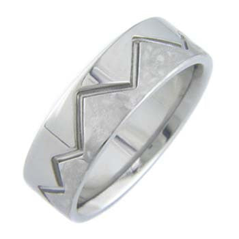 Boone Titanium Ring - Mountains