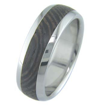 wenge Titanium Wedding and Engagement Rings