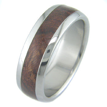 bubinga Titanium Wedding and Engagement Rings