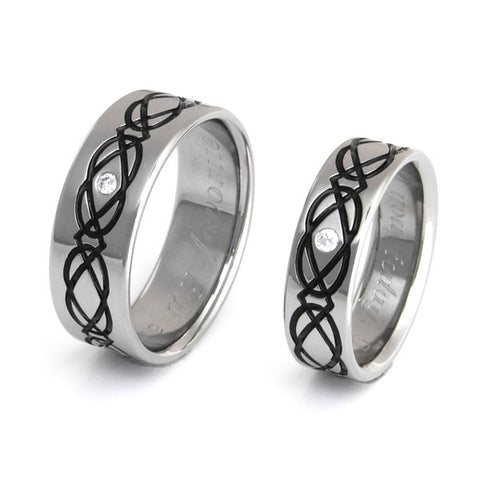 irish celtic titanium ring set 1 Titanium Wedding and Engagement Rings