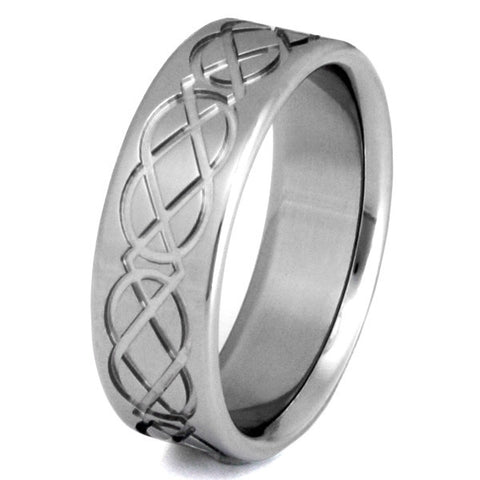 titanium irish celtic promise ring ck1 Titanium Wedding and Engagement Rings