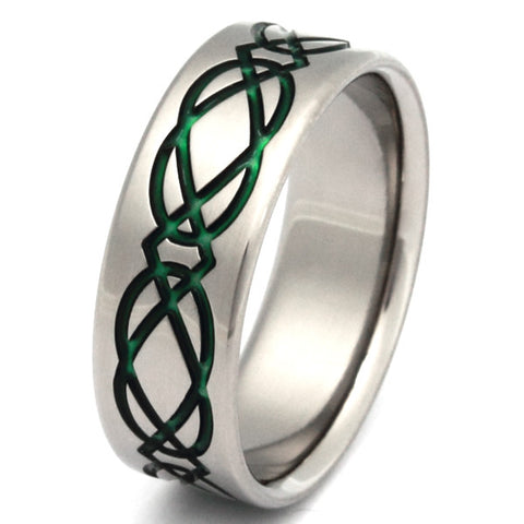 titanium irish celtic promise ring ck19 Titanium Wedding and Engagement Rings