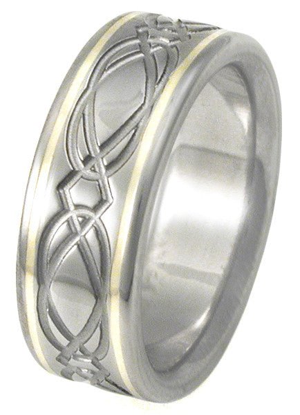 Titanium Irish Celtic Wedding Rings ck23 Titanium Rings Studio