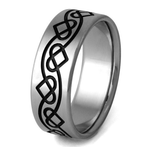 titanium irish celtic promise ring ck25 Titanium Wedding and Engagement Rings