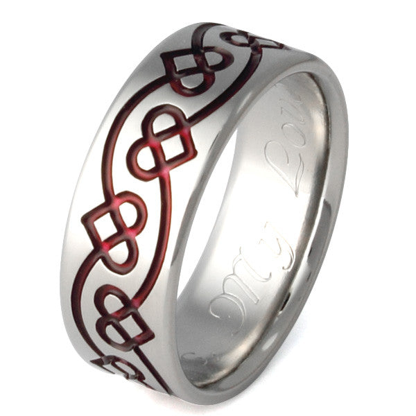 Titanium Celtic Ring ck29 Titanium Rings Studio