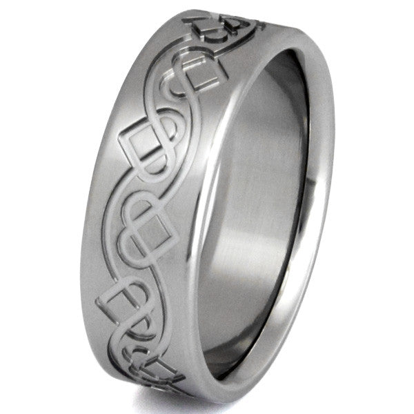 men band edge beveled jewelry rings overstock watches fit s subcat for less titanium brushed oliveti comfort jewellery