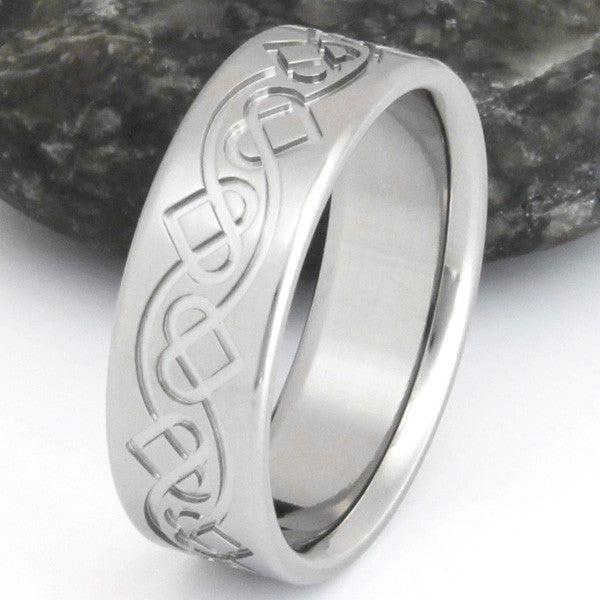 Irish Celtic Titanium Ring ck35 Titanium Rings Studio