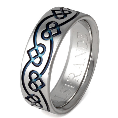 titanium irish celtic promise rings ck35blue Titanium Wedding and Engagement Rings