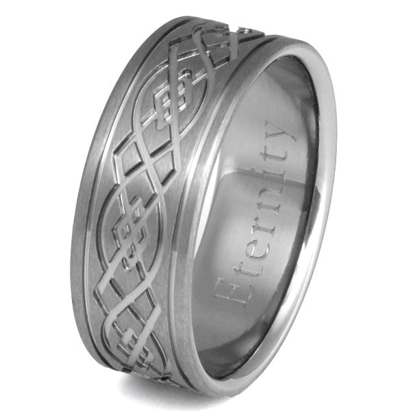 titanium irish celtic wedding rings ck52 titanium wedding and engagement rings - Irish Wedding Ring