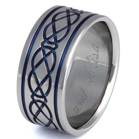 titanium irish celtic wedding rings ck6 Titanium Wedding and Engagement Rings