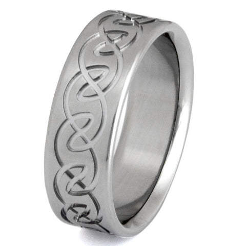 titanium irish celtic promise rings ck9 Titanium Wedding and Engagement Rings