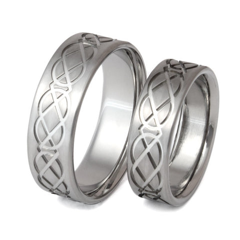 celtic titanium ring set stck1 Titanium Wedding and Engagement Rings