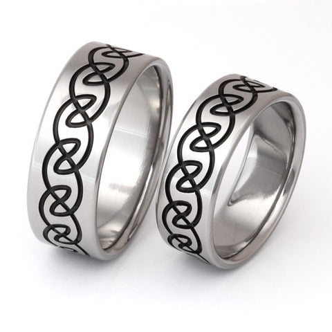 irish celtic titanium ring set stck14 Titanium Wedding and Engagement Rings