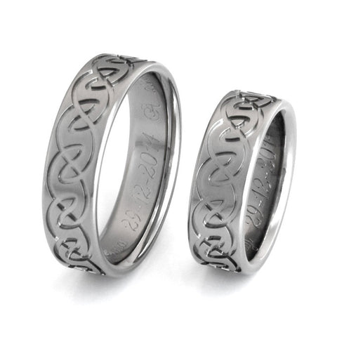 irish celtic titanium ring set Titanium Wedding and Engagement Rings