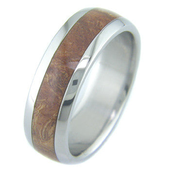 chechen burl Titanium Wedding and Engagement Rings