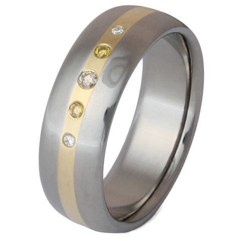 titanium chocolate diamond ring s5 Titanium Wedding and Engagement Rings