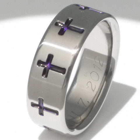 titanium christian ring cr2 Titanium Wedding and Engagement Rings