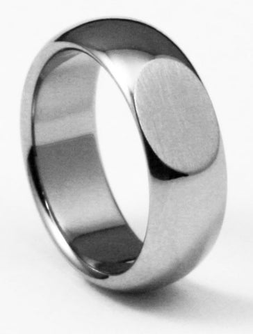 Unique Titanium Wedding Ring class of 22