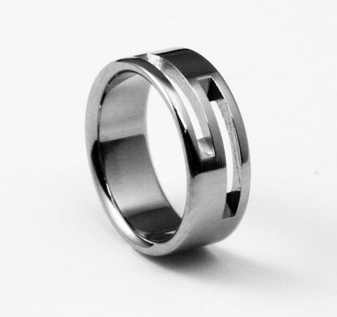 electric slide Titanium Wedding and Engagement Rings