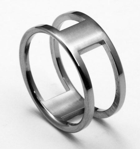 Unique Titanium Designer Wedding Ring iti