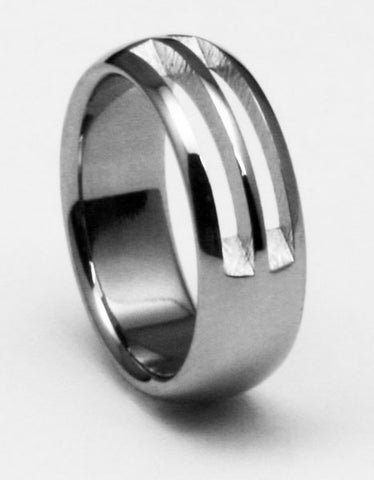 Unique Designer Titanium Wedding Ring laforge