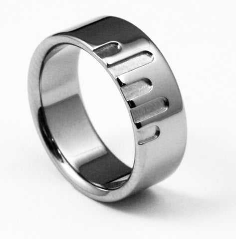 designer titanium wedding ring metropolis