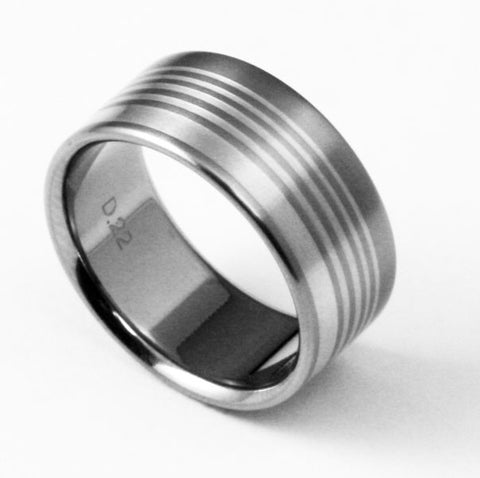Unique Designer Titanium Ring miami vice