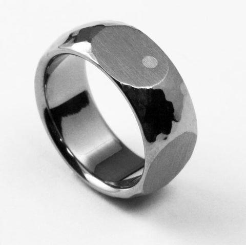Unique Designer Titanium Ring shaken not stirred