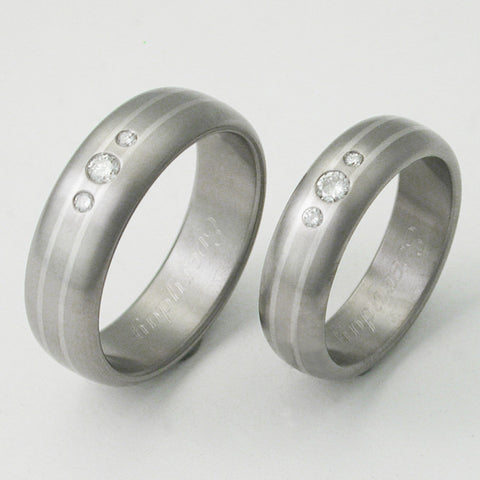 matching diamond titanium wedding band set sts22 Titanium Wedding and Engagement Rings