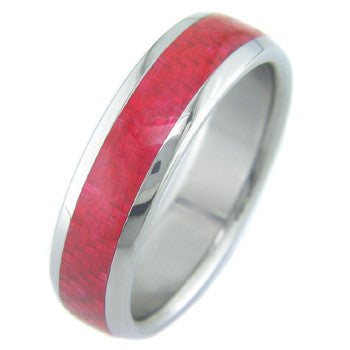 Boone Electric Red Carbon Fiber Titanium Ring
