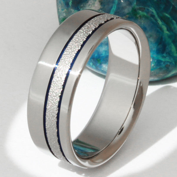 champagne sparkle frost titanium wedding ring f14 titanium wedding and engagement rings - Titanium Wedding Rings