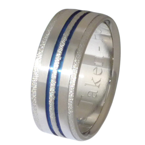 dazzling frost titanium wedding ring f20 Titanium Wedding and Engagement Rings
