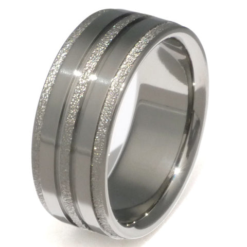 the slide frost titanium wedding ring f22 Titanium Wedding and Engagement Rings