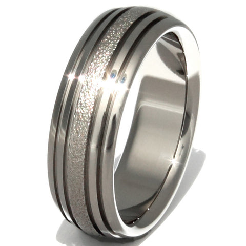 the rapids frost titanium wedding ring f4 Titanium Wedding and Engagement Rings