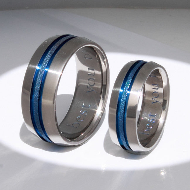 Matching Titanium Wedding Band Set Stb16 And Engagement Rings